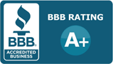 BBB RATING A+ ВВB. ACCREDITEO BUSINESS